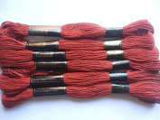 Pack of 6 Trebla Embroidery Thread / Skeins - 8m - Mahogany - Col. 770