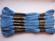 Pack of 6 Trebla Embroidery Thread / Skeins - 8m - Air Cadet Blue - Col. 758