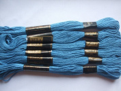 Pack of 6 Trebla Embroidery Thread / Skeins - 8m - Royal Windsor Blue - Col. 513