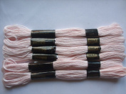 Pack of 6 Trebla Embroidery Thread / Skeins - 8m - Calamine - Col. 902
