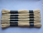 Pack of 6 Trebla Embroidery Thread / Skeins - 8m - Apricot - Col. 2125