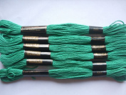 Pack of 6 Trebla Embroidery Thread / Skeins - 8m - Pakistan Green - Col. 505