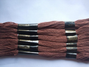 Pack of 6 Trebla Embroidery Thread / Skeins - 8m - Brunette - Col. 810