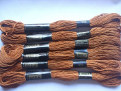 Pack of 6 Trebla Embroidery Thread / Skeins - 8m - Dirt Track - Col. 926