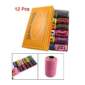 Sonline 12 Pcs Multicolor Sewing Stitching Thread Tailoring Line