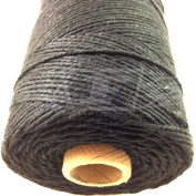 1 Metre, BLACK (SOLID COLOUR) BEAUTIFUL BAKERS TWINE 100% COTTON 2mm 2 PLY MADE IN THE UK - STRING CORD CRAFT PAPER - FREE UK DELIVERY