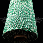 1 Metre, MOSS GREEN BEAUTIFUL BAKERS TWINE 100% COTTON 2mm 2 PLY MADE IN THE UK - STRING CORD CRAFT PAPER - FREE UK DELIVERY