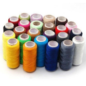 24 Colours Spools Home Sewing Craft All Purpose High Quality Kit Cotton Thread Reel