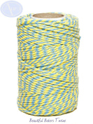 Sky Blue & Daffodil Yellow - 50m Roll of BAKERS Twine