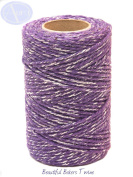 Purple Sparkle - 50m Roll of BAKERS Twine - 100% Cotton - .