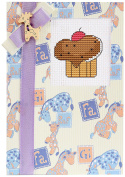 Luca-S LSP-6 Card Embroidery Kit / Motif Cupcake / 14.5 x 10 cm