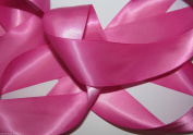 Fuchsia Pink Quality Double Satin Ribbon 1 metre X 35 mm For £1.25