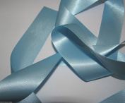 Sky Blue Quality Double Satin Ribbon 3 metres X 3mm For £1.25