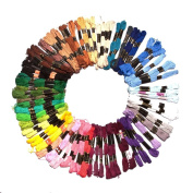 150 x 8m Embroidery Threads in Assorted Mixed Colours Skeins by Kurtzy TM