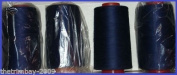 Navy 55/56 Overlocking Sewing Machine Polyester Thread Four 5000 Yards Cones