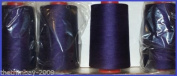 Purple 27 Overlocking Sewing Machine Polyester Thread Four 5000 Yards Cones