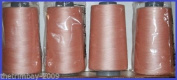 Peach 19 Overlocking Sewing Machine Polyester Thread Four 5000 Yards Cones