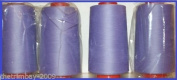Lilac 24 Overlocking Sewing Machine Polyester Thread Four 5000 Yards Cones