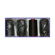 Dark Brown 12 Overlocking Sewing Machine Polyester Thread Four 5000 Yards Cones