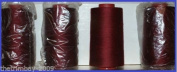 Burgundy 33 Overlocking Sewing Machine Polyester Thread Four 5000 Yards Cones