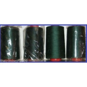 Bottle Green 103 Overlocking Sewing Machine Polyester Thread Four 5000 Yards Cone