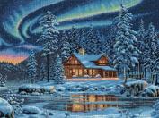 """Dimensions """"Aurora Cabin"""" Counted Cross Stitch Kit, Multi-Colour"""