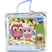 Vervaco 1-Piece Latch Hook Cushion Owls