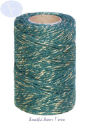 Green Sparkle - 50m Roll of BAKERS Twine - 100% Cotton - .