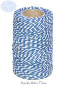 Blue & White - 50m Roll of BAKERS Twine - 100% Cotton - .