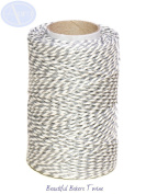 Silver Metallic - 50m Roll of BAKERS Twine - 100% Cotton - .