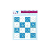 Crafters Companion Embossalicious Embossing Folders 6x6 - Floral Stitch