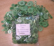 3 x 100g Bags KosiKrafts Art And Crafts GREEN Sewing BUTTONS