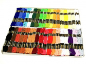 Trebla Embroidery Silks Floss Thread Pack of 144 Skeins - Assorted Colours