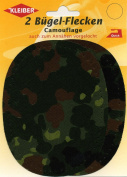 Kleiber Trouser Repair Patches, Camouflage Oval/ Green
