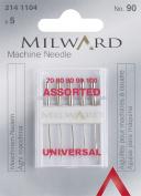 Milward Flat Shank Gauge 90 Assorted Sewing Machine Needle
