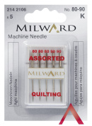 Milward Quilting with Flat Shank Assorted Sewing Machine Needle