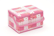 Hobby Gift MRL/24 | Pink Patchwork Large Sewing Basket