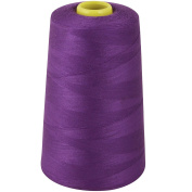 OVERLOCKING THREAD - OVERLOCKER THREAD - POLYESTER - SEWING THREAD - 4 X 5000 YARD SPOOLS - LARGE COLOUR SELECTION INCLUDING