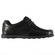 Kangol Kids Farham Lace Junior Shoes Moc Toe Up Leather Upper Cushioned Ankle Black UK 3