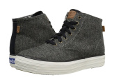 NEW KEDS TRIPLE HI TWEED GREY/BLACK HIGH TOP TRAINERS SHOES UK 3.5 EU 36 BOXED BOYS GIRLS
