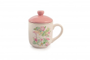 Galileo Casa 2416758 Tea Cup, Ceramic, Pink and Blue