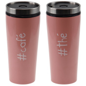 Impact Paris 27836 – Colorama – Insulated Tea Coffee Stainless Steel Travel Mug 7.5 x 18 cm pink