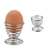Egg Cup Egg Holder Stainless Steel Egg Spring Cup Breakfast Kitchen Spiral