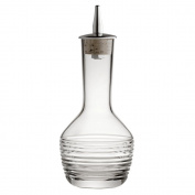 Bitters Bottle Horizontal Cut 9cl - Handmade Glass Bitters Bottle with Stainless Steel Dash Dripper