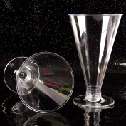 Tall Conicle 12.5cm Disposable Dessert Cups (O) Canape Dishes Clear Plastic[10]