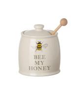 "Majestic ""Bee My Honey"" Ceramic Honey Pot and Dipper"
