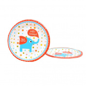 5Pcs Cartoon Pattern Cake Plates Cute Kids Children Party Disposable Dessert Plates