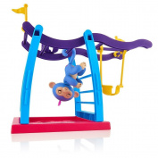 Samidy Finger Toys Monkey Jungle Gym,Faber3 Monkey Jungle Gym Playset Interactive Baby Monkey Climbing Stand Kids Monkey Toy Stent Interactive Baby Monkey Aimee for Finger Toys