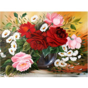 Jamicy 5D Diamond Painting Fashion Flower DIY Rhinestone Pasted Embroidery Cross Stitch Home Decor
