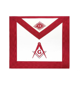 Masonic Scottish Rite Master Mason Apron Red